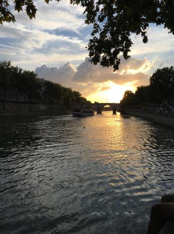 view along the River Seine