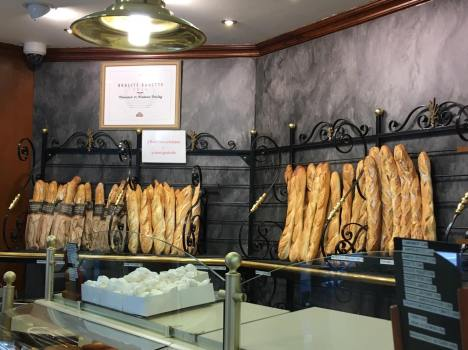 baguettes in boulangerie